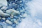 Forming Stones Art - Freezing River by Jeremy Walker