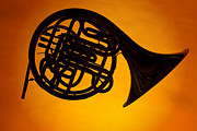 Perform Art - French Horn Silhouette by M K  Miller