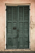 Leda Photography Posters - French Quarter Doors Poster by Leslie Leda