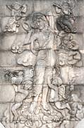 Frescoes Of Women In Mythology Print by Phalakon Jaisangat