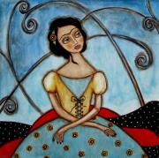 Rain Ririn  Paintings - Frida Kahlo by Rain Ririn