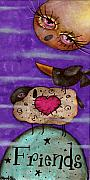 Primitive Art Prints - Friends Print by  Abril Andrade Griffith