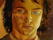 Movie Star Painting Originals - Frodo with the ring by Yulia Litvinova