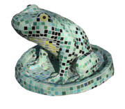 Animal Sculpture Posters - Frog Poster by Katia Weyher