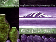 Religious Art Mixed Media Prints - From the ends of the earth Print by Suzanne Carter