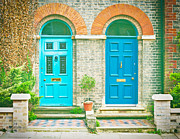 Two By Two Framed Prints - Front doors Framed Print by Tom Gowanlock
