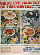 Birdseye Photo Acrylic Prints - Frozen Food Ad, 1957 Acrylic Print by Granger