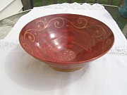 Large Ceramics - Fruit Bowl Shino by Monika Hood