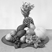 White Grape Photos - Fruit tray still life by Paul Cowan