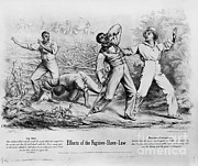 Slaves Posters - Fugitive Slave Law Poster by Photo Researchers