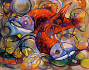 Salmon Paintings - Full Circle by Peggy Wilson