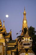 Rangoon Prints - Full Moon in Burma Print by Michele Burgess