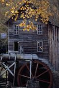 Grist Mills Framed Prints - Fully Operational Grist Mill Sells Framed Print by Raymond Gehman