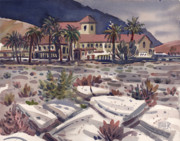 Death Painting Originals - Furnace Creek Inn by Donald Maier