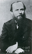 Photo Realism Photos - Fyodor Dostoyevsky, Russian Author by Photo Researchers