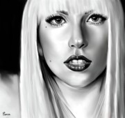 Lady Gaga Art - Gaga  by Lisa Pence