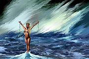 Power Paintings - Galatea - Birth of a Sea Nymph by Corey Ford