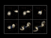 Collision Prints - Galaxy Collision Model Print by Max Planck Institute For Astrophysics