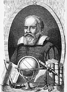 1876 Framed Prints - Galileo Galilei, Italian Astronomer Framed Print by