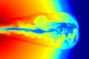 Jet Star Photo Metal Prints - Gamma Ray Burst Formation Metal Print by Weiqun Zhangstan Woosley