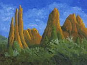 Formations Painting Framed Prints - Garden of the Gods Framed Print by Garry McMichael