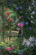 Arbor Paintings - Garden Respite by Doug Kreuger