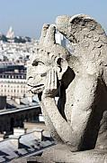 Gargoyle Art - Gargoyle guarding the Notre Dame Basilica in Paris by Pierre Leclerc