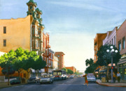 Victorian Architecture Prints - Gaslamp Quarter San Diego Print by Mary Helmreich