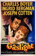 Jbp10ap23 Framed Prints - Gaslight, Charles Boyer, Ingrid Framed Print by Everett