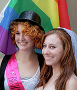 Gay Issues Photos - Gay Pride 6 26 11 Couple by Robert Ullmann