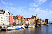 Historic Housing Prints - Gdansk Old Town in Poland Print by Artur Bogacki