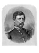 Civil Drawings Framed Prints - General George McClellan Framed Print by War Is Hell Store