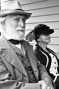 E Black Photo Prints - General Lee and Mary Custis Lee Print by Thomas R Fletcher