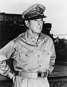 Ww2 Photo Prints - General MacArthur Print by War Is Hell Store