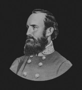 Confederate Paintings - General Stonewall Jackson by War Is Hell Store