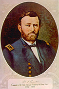 General Grant Prints - General Ulysses S. Grant 1822-1885 Print by Everett