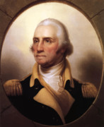 Military Painting Framed Prints - General Washington Framed Print by War Is Hell Store