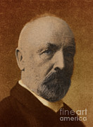 Georg Framed Prints - Georg Cantor, German Mathematician Framed Print by Science Source
