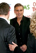 Clooney Metal Prints - George Clooney At Arrivals For Oceans Metal Print by Everett