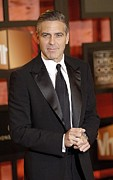 Black Tie Art - George Clooney At Arrivals For The by Everett
