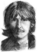 George Harrison Drawings - George Harrison by Daniel Scott
