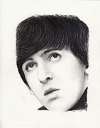 George Harrison Drawings - George Harrison by Rosalinda Markle