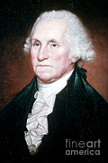 George Washington Framed Prints - George Washington, 1st American Framed Print by Photo Researchers