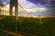 "Road Travel Framed Prints - George Washington Bridge Framed Print by Photography by Steve Kelley aka ""mudpig"""