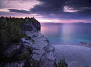 Georgian Framed Prints - Georgian Bay Cliffs at Sunset Framed Print by Oleksiy Maksymenko