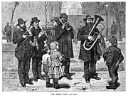 Streetlight Photos - German Street Band, 1879 by Granger