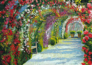 Canvas  Paintings - Germany Baden-Baden Rosengarten by Yuriy  Shevchuk