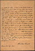 Autograph Art - Gettysburg Address by Granger