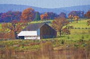 Barn Digital Art - Gettysburg Barn by Bill Cannon