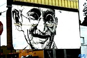 Wynwood Mixed Media - Ghandi by Dustin Spagnola